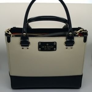 Kate Spade Black and Cream Small Tote